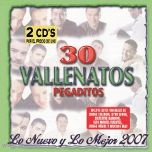 30 Vallenatos Pegaditos (2 CD)